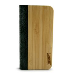 iPhone 5/5S Houdt Leather  Bamboo Flip Case  #iPhone #WoodenCovers Real Wood, Iphone 5s, Bamboo Cutting Board, Make It Yourself, Leather