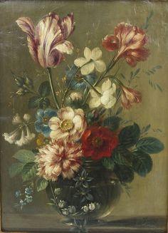 vase de fleurs par Belin de Fontenay, c. 1710