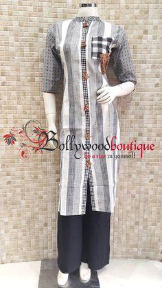 Salwar Pattern, Kurti Patterns, Kurti Styles, Blouse Styles, Frock Style Kurti, New Kurti, Ethnic Fashion, Indian Fashion, Smart Dress