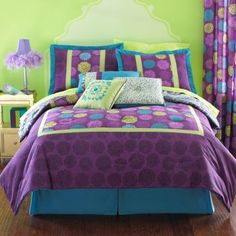 Teen Girl Bedrooms for super warm decor - A vibrant and spectacular collection on decorating tricks. Tip note 9144994218 shared on this date 20190512 Lime Green Bedrooms, Bedroom Green, Paisley Bedding, Teen Bedding, Floral Bedding, Teen Room Decor, Bedroom Decor, Bedroom Ideas, Turquoise Cottage