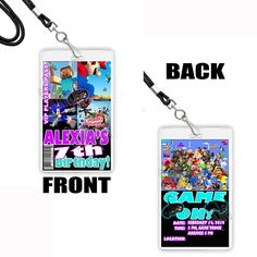 Personalised VIP Pass Lanyard Teen Beach Theme for Birthday Party Invite Girls