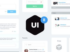 UI Kit Freebie - Here's a neat little gif for another product we've been putting together at UI8.