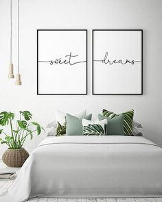 art above bed / art above bed . art above bed master . art above bed ideas . art above bed boho . art above bed diy . art above bed size . art above bed king Spare Bedroom, Above Bed, Home Bedroom, Bedroom Wall Art, Bedroom Inspirations, Apartment Decor, Small Bedroom, Bedroom Wall, Bedroom Decor
