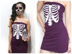 Purple Ribcage Dress by lipglossandblack on Etsy