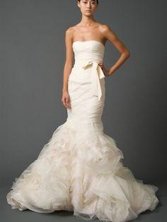 Luxury Trumpet Sweetheart Strapless Bridal Wedding Gown