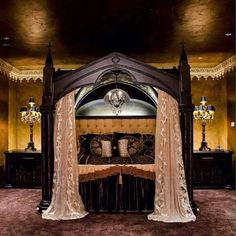 Wow! Stunning Gothic Bed Frame.. Would This Look Good In Your Bedroom?  Stunning gothic bed!