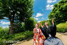 大阪・大仙公園ロケーション 和装前撮り 色打掛   『和装日和』 和装前撮り.com BLOG