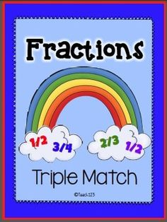 This fraction packet is rainbow themed and would be a great activity to integrate math with your study of weather or St. The activi. Fraction Activities, Math Activities, Family Math Night, Math Classroom, Future Classroom, Math School, Teaching Math, Teaching Ideas, Third Grade Math