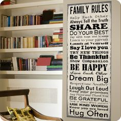 FAMILY RULES LARGE CANVAS WALL ART | LOT 26 STUDIO