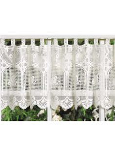 filet crochet valance 10 Beautiful Free Crochet Curtain Patterns