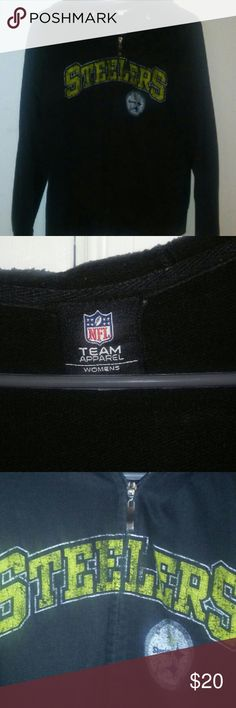 Pittsburgh Steelers Hooded Jacket Like-new condition, really warm for Fall and Winter months, Tags are alittle worn NFL Team Apparel Jackets & Coats