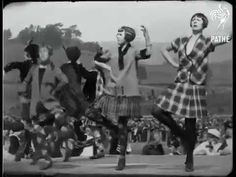 Highland dancing 1926 - with flapper outfits and bobbed hair