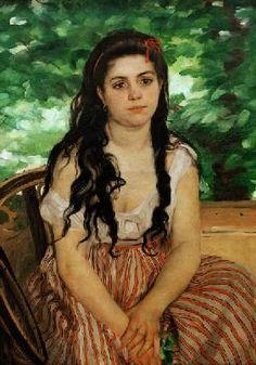 Pierre-Auguste Renoir - En verano, estudio