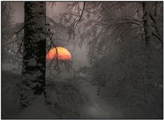 winter sunset....