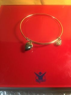 Designer Alex&Ani Gold Plated Heart Charm Bracelet - http://designerjewelrygalleria.com/alex-ani/designer-alexani-gold-plated-heart-charm-bracelet/