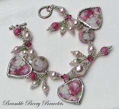 Broken China Bracelet  Broken China by brambleberrybracelet, $65.00