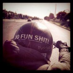 Do Fun Shit helmet sticker