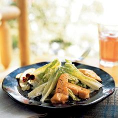 Grilled Salmon Caesar Salad Recipe | MyRecipes