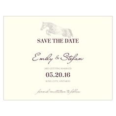 """Equestrian Love"" Save The Date Card from Weddingstar Inc."