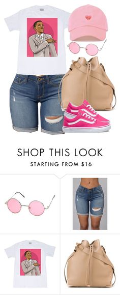 """""""Obama will be missed."""" by cheerstostyle ❤ liked on Polyvore featuring Alexander Wang and Vans"""