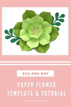 Paper Flowers Craft, Large Paper Flowers, Giant Paper Flowers, Flower Crafts, Large Paper Flower Template, Paper Flower Tutorial, Leaf Template, Templates, Flower Svg