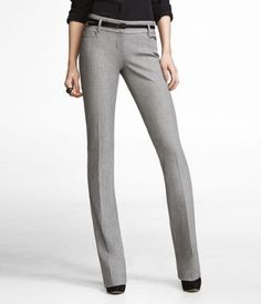 Recently bought these pants at Express...best dress pants ever! Studio Stretch Columnist Pant in Zig Zag Tweed, $79.90