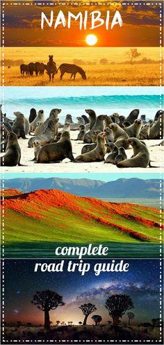 Namibia road trip itinerary pin