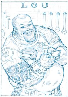 Lou Carmody sketch by Gabriel Rodriguez from the book I Love Books, Books To Read, My Books, Nos4a2, Book Quotes, Gabriel, The Book, Coloring Pages, Creepy
