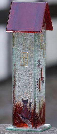 Møllehusets Glas: 16 - rødt hus - 26 cm