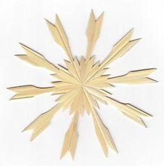 Zehnstrahliger Strohstern, Christbaumschmuck aus Stroh, Weihnachtsschmuck aus Stroh, Strohsterne mit zehn Strahlen, Strohstern mit Anleitung