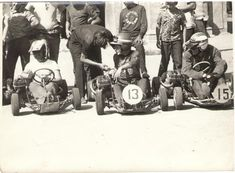 Vintage Go Karts, Karting, Fictional Characters, B W Photos, Racing, Cart, Fantasy Characters