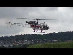 Huge Aerospatiale SA-315B Heli-TV Scale RC Model Helicopter Team Italy