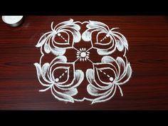 simple rangoli designs with 6 dots - beautiful kolam designs - new muggulu designs - YouTube
