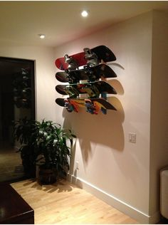 Snowboard Rack | Slotted Wall Mount