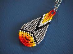 forged in fire beaded teardrop necklace silver black &