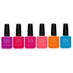 Cnd Colours, Shellac Gel Polish, Shellac Nail Colors, Nail Polishes, Cnd Vinylux, Summer Shades, City Chic, Summer Colors, Nautical