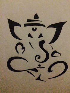 Ganesha Abstract original drawing hand drawn by … Black Painted Walls, Black Walls, Ganesh Tattoo, Art Store, Ganesha, Black Art, Handmade Art, Shiva, Krishna