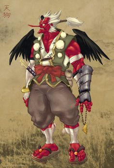 Japanese Tengu | the most common modern image of japanese tengu is not