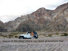 heaven is the place where you think of nowhere else