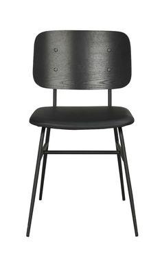 Brent Spisebordsstol, sort ask - Sorting, Dining Chairs, Retro, Interior, Furniture, Inspiration, Black, Design, Home Decor
