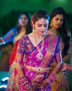 Ideas South Indian Bridal Blouse Designs Silk Fashion Styles For 2019 Pattu Sarees Wedding, Wedding Saree Blouse Designs, Pattu Saree Blouse Designs, Half Saree Designs, Blouse Designs Silk, Indian Wedding Sarees, Bridal Sarees South Indian, Wedding Silk Saree, Indian Sarees