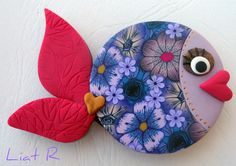 Polymer clay Fish magnet