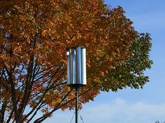 The Zoetrope is a vertical-axis wind turbine made from common materials such as stove pipe, metal brackets, plastic sheet and a trailer hub. Many of the materials can be found at local hardware or home improvement stores, the rest can either be made at home or purchased online.