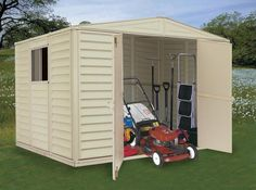 Awesome Lawn Mower Sheds #6 Riding Lawn Mower Storage Shed