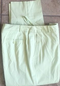Talbots Lime Stretch Dress Cropped Pants Size 10 Lined in Very Nice Condition | eBay