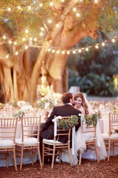 Elegant Forest Wedding Reception
