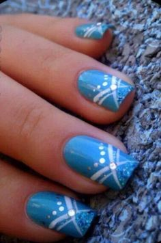 Lighter blue with design