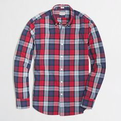 J.Crew Factory - Factory slim washed shirt in large plaid