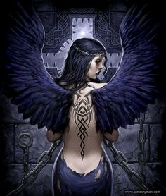 Angel Dark - could change tattoo to wolf scratch marks and change backdrop to woods