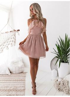 Hot Sale Dazzling Party Dress Backless, Blush Party Dress, Chiffon Homecoming Dresses, A-Line Homecoming Dresses · HotProm · Online Store Powered by Storenvy Mermaid Bridesmaid Dresses, Backless Prom Dresses, Black Prom Dresses, Lace Evening Dresses, Prom Dresses Blue, Mermaid Dresses, Dresses For Teens, Ball Dresses, Elegant Dresses